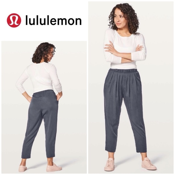 Lululemon Can You Feel The Pleat Pant Blue Tied 10